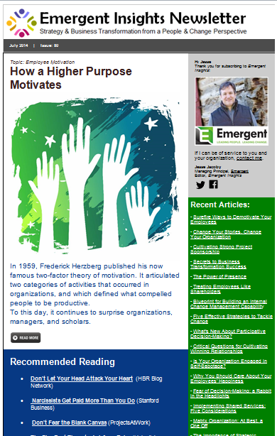Emergent Insights Newsletter